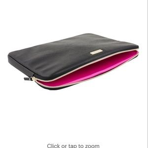 Kate Spade Laptop Sleeve - black and pink